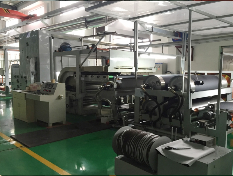 Coating embossing machine