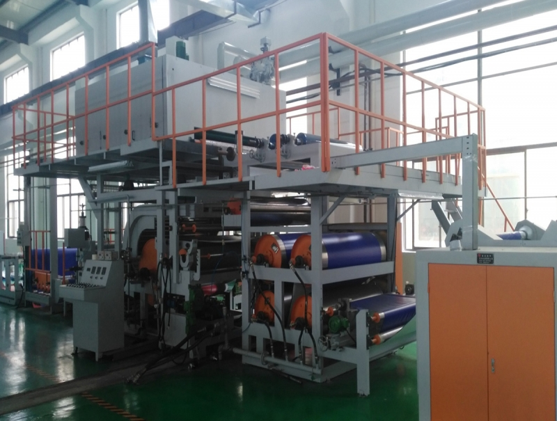 Calendering and embossing machine